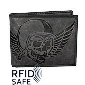 Bild von Naturleder Portemonnaie Wing of Hell RFID safe Jockey Club