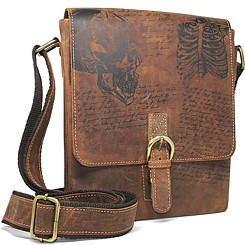 Bild von Naturleder Messenger Bag Da Vinci Jockey Club