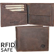 Bild von Portemonnaie RFID safe brown GREENBURRY M