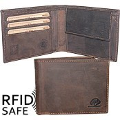 Bild von Portemonnaie RFID safe brown GREENBURRY S